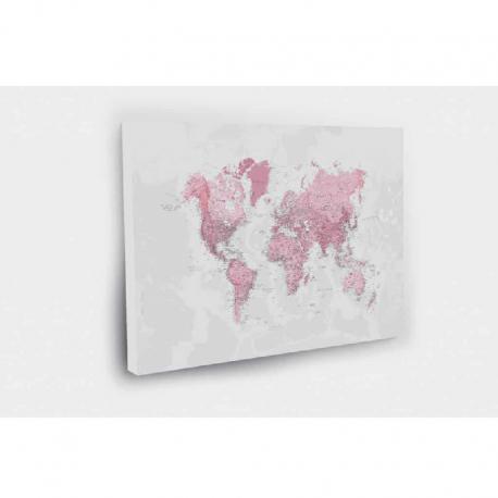 Kelionių žemėlapis su smeigtukais Rožinis