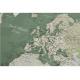 Kelionių žemėlapis su smeigtukais Žalsvas