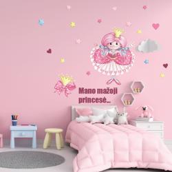 NJ2061 sienų lipdukas Mano mažoji princesė