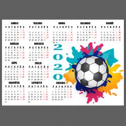 NJ2065 lipdukas - kalendorius Futbolas