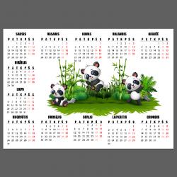 NJ2069 lipdukas - kalendorius Pandos