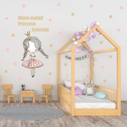 NJ2094 sienų lipdukas Mano mažoji Princesė (su jūsų vaiko vardu)